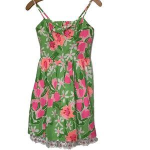 Lilly Pulitzer Macauley Dress Pink Green Size 0